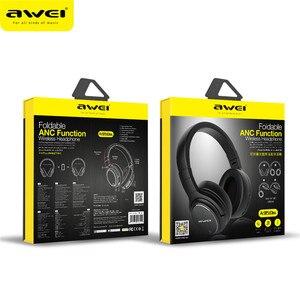 Image 5 - Original AWEI A950BL หูฟังบลูทูธ ANC ลดเสียงรบกวนไร้สาย bluetooth หูฟังหูฟังกับไมโครโฟนแฮนด์ฟรี
