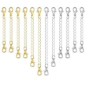 919f4c0f2167 12 piezas extensor de cadena collar de la joyería cierres de langosta y cierres  para collar