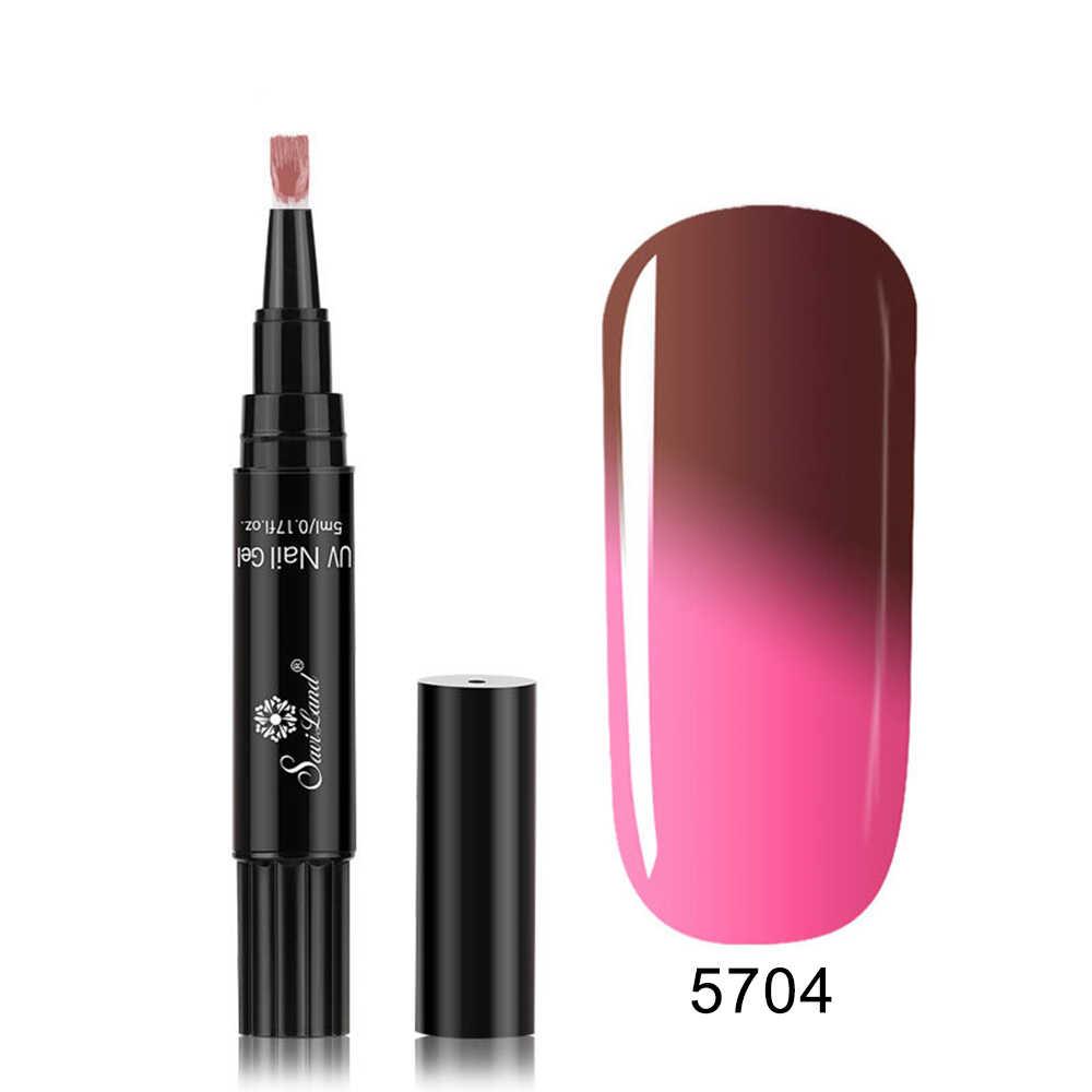 5 ml żel do paznokci pióro temperatury żel zmieniający kolor długopis żel UV do paznokci lakier do paznokci lakier do paznokci ołówek