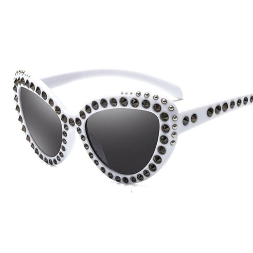 9527c0c87b45 XojoX Luxury Rhinestone Sunglasses Women Trendy Oversized Sun Glasses Retro  Brand Designer Ladies Mirrror Eyeglasses UV400-in Sunglasses from Apparel  ...