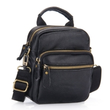 купить Fashion 100% Genuine Leather Bag top-handle Men Bags male Shoulder Crossbody Bags Messenger Small Flap Casual Handbags men Bag в интернет-магазине