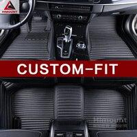 Custom fit car floor mats for Toyota vellfire/Alphard MPV high quality Luxury full cover car styling carpet rugs liners