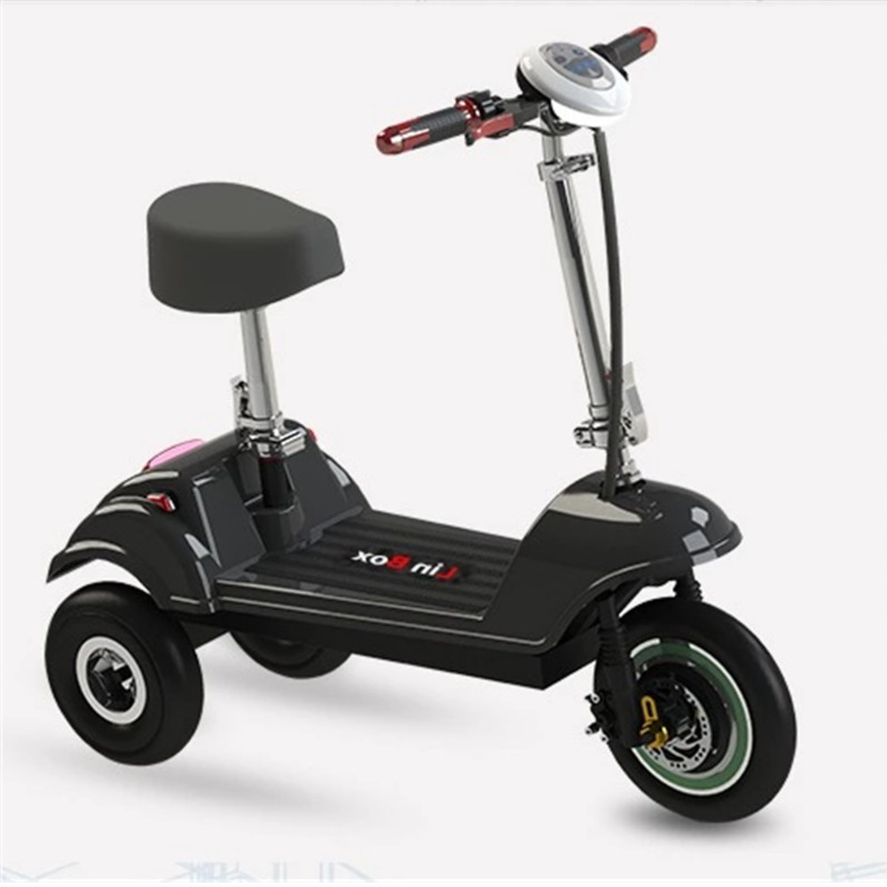 Mini pliage tricycle électrique batterie au lithium de scooter pour enfants adulte voiture à batterie