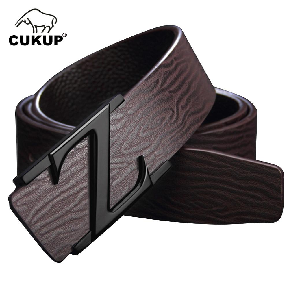 Bright Cukup New Arrival Good Quality Design Cow Genuine Leather Letter Smooth Buckle Mens Casual Style Belt For Men Accessory Luck802 Quality And Quantity Assured Apparel Accessories