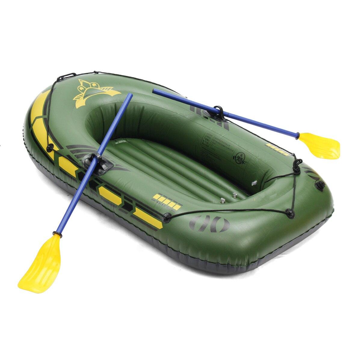 SGODDE 2 personas/3 personas engrosamiento PVC bote inflable balsa río lago bote de pesca con remos Set de carga 200kg - 6