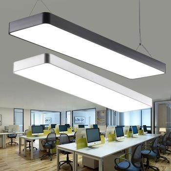 DX moderna luz colgante Led iluminación nórdica sala de estar dormitorio lámpara de techo de aluminio negro blanco astilla caliente Natural Lusters
