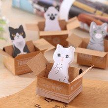 30 листов/Набор Kawaii Cat блокнот для записей Липкие заметки милый бумажный планировщик для скрапбукинга наклейки канцелярские товары школьные принадлежности