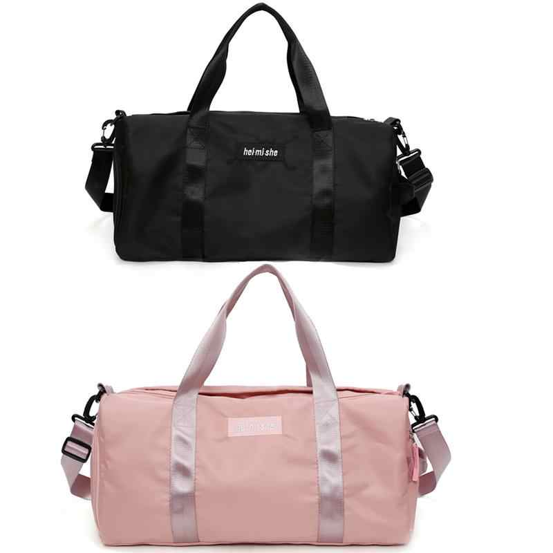 e15a8108f399 Travel Duffle Totes Handbag Sports Bag Single Shoulder Luggage Bags Women  Fitness Travelling Organizer Suit Packing