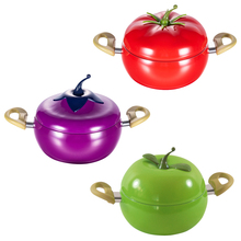 3 layers Aluminum Kitchen Soup Pot Non-stick Fruit Sauce Pan Boiler Tomato Shape No Fumes Household Cooking Tools Kitchenware