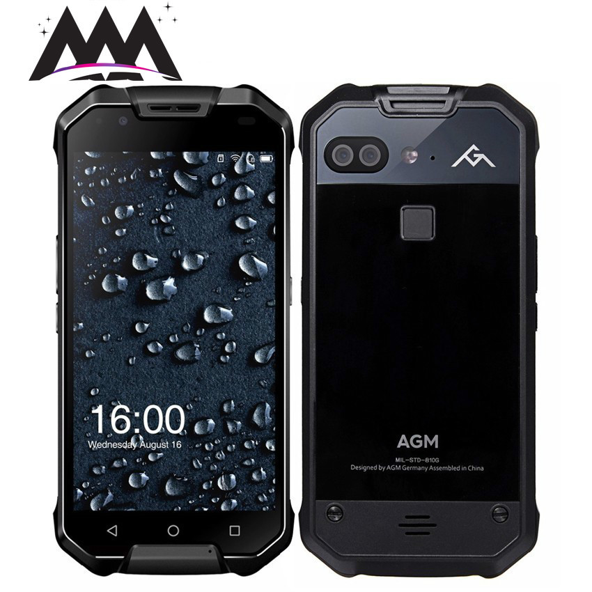 AGM X2 IP68 étanche antichoc téléphone portable 6 GB RAM 64 GB/128 GB ROM Qualcomm MSM8976SG Octa Core 6000 mAh NFC 4G Smartphone