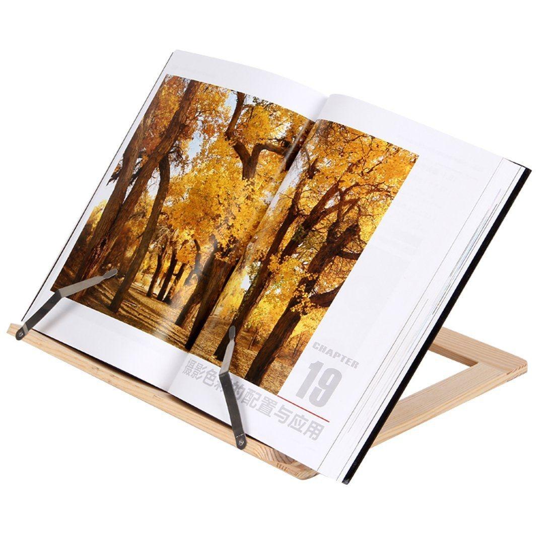 Wooden Frame Reading Bookshelf Bracket - Book Reading Bracket Tablet PC Support Music Stand
