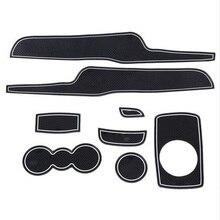 8 шт./лот 3D резиновые двери автомобиля паз коврик ворота Слот Pad Нескользящие подставка подстаканник коврики для Ford Fiesta автомобиля интерьера украшения