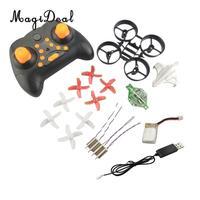 Magideal mini rc quadcopter helicóptero pequeno zangão de controle remoto brinquedo desmontado kit para fãs helicóptero rc crianças adultos presente|Peças e Acessórios| |  -