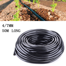 1X 50M Watering Tubing Hose Pipe 4/7mm Micro Drip Garden Irrigation System HOT