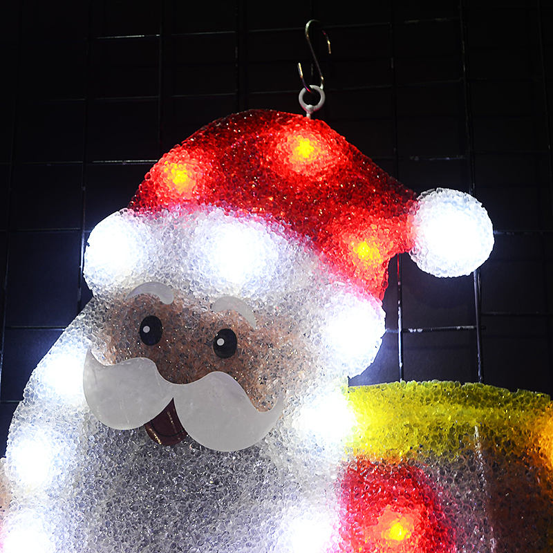 24V EVA Santa clause motif lights 20 9 in Tall navidad hanging LED decorative lights christmas party lights outdoor in Holiday Lighting from Lights Lighting