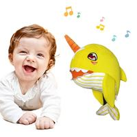 2019 NEW A Narwhal Baby Plush Toy Soft Safe Comfortable Music Singing Toy For Children Boys And Girls Birthday New Year Gift