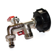 IBC Metal Adapter Rainwater Brass Tank Connector Accessories 1000 Liter IBC Water Adjustable Tank S60X6 plastic ibc tank container 1000 liters 62mm dn40 and 75mm butterfly valve