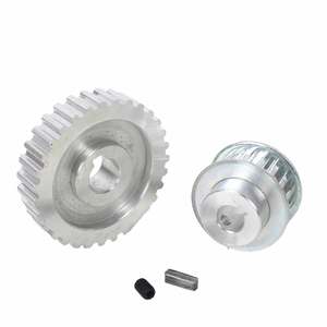 Image 2 - 2pcs metal synchronous Pulley gear motor belt gear drive wheel gt2 9.5mm pulley CJ0618 SIEG C2