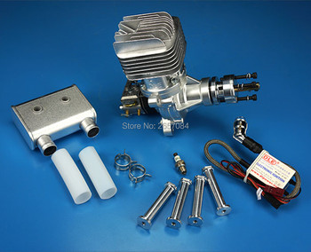 DLE55RA 55CC GAS Engine For RC Airplane Fixed Wing Model Single Stroke two exhaust wind cold hands start after Stroke