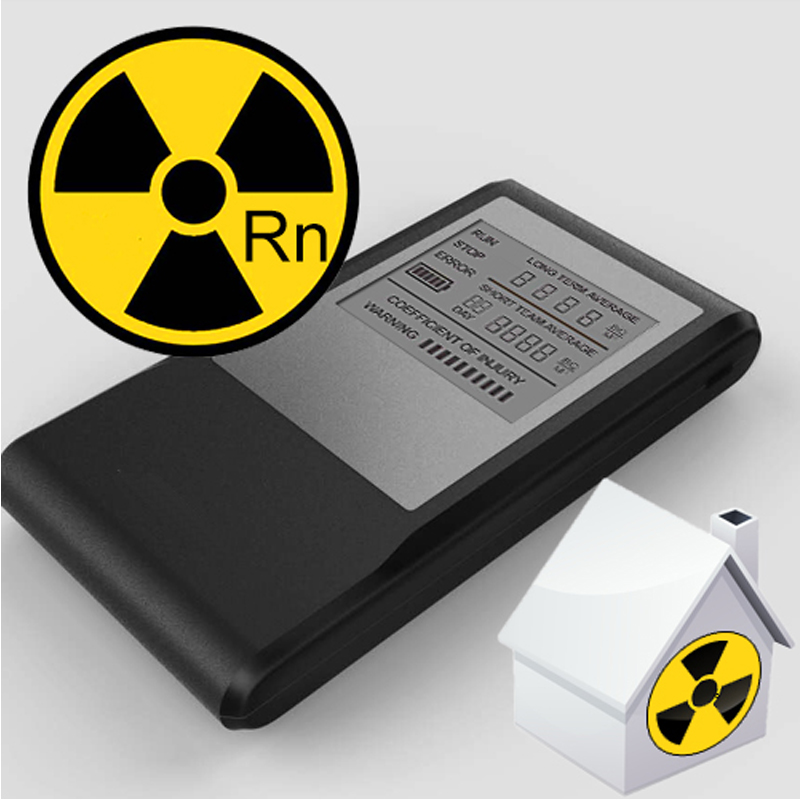 Air ae steward free shipping worldwide portable LCD rechargeable radon monitor for personal use air pollution