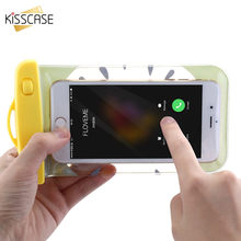 KISSCASE Universal Waterproof Bag Case Camera Water Proof Pouch Luminous Drifting Sport Bags Underwater Swimming Phone Pouchs