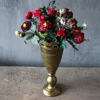 Vintage Gold Color Flower Vases Home Decoration Room Floor Jardiniere Vase Wedding Movie Photo Props Decoration