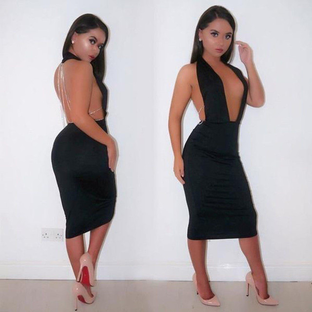 Black Halter Dress 3