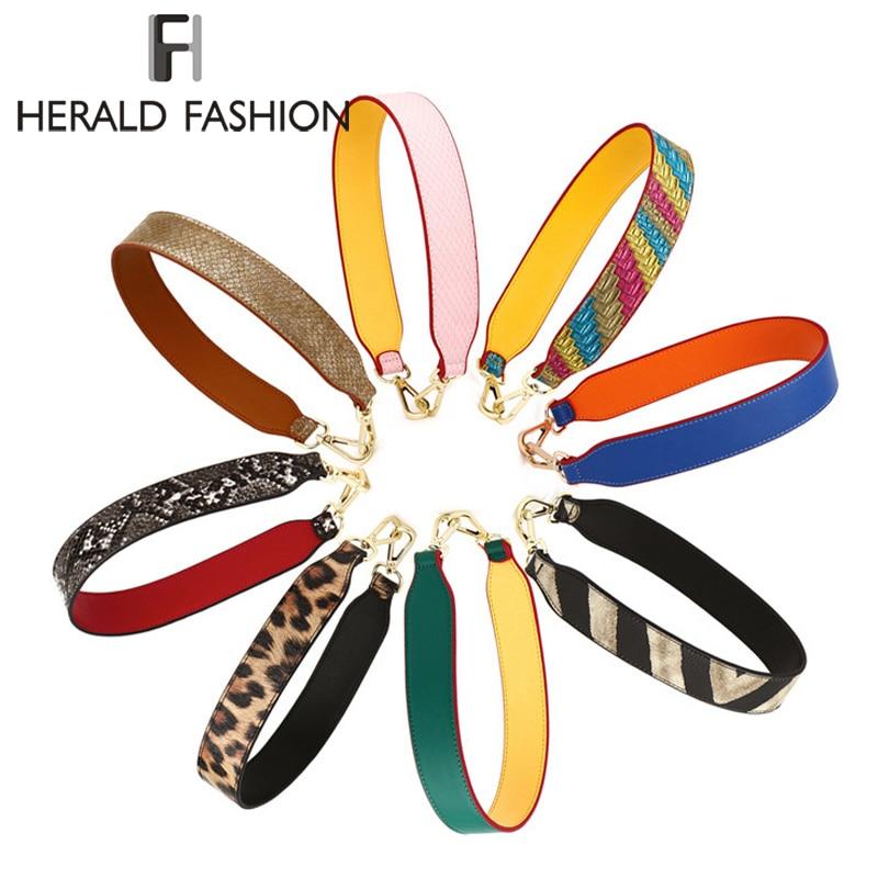 где купить Herald Fashion Women Detachable Bag Handle Quality Replacement Bags Strap Lady's PU Leather Shoulder Bag Parts Accessories Belts по лучшей цене