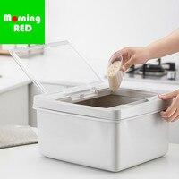 New Plastic Rice Bucket 10kg Storage Box Flip Moisture Proof Insect Proof Sealed Household Rice Cylinder Barrel Food Storage Bin