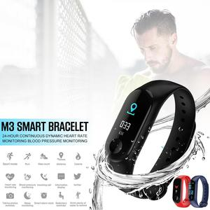 Image 2 - M3 شاشة ملونة سوار ذكي جهاز تعقب للياقة البدنية خطوة عداد معدل ضربات القلب ضغط الدم معلومات تذكير مقاوم للماء الرياضة