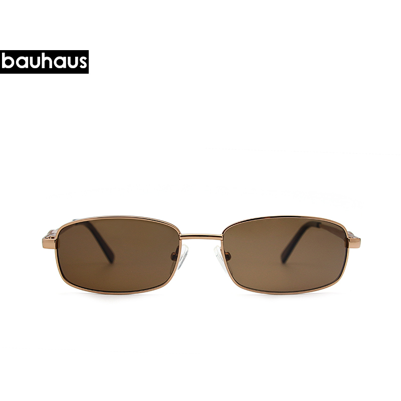 2018 Vintage Small Rectangle Sunglasses For Women Men  Sun Glasses Retro Metal Frame Dark Brown Lens