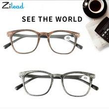 Zilead Synthetic Wood Unbreakable Reading Glass Women Men Ultralight Oversize Resin Anti Fatigue Spring Lens Upscale Presbyopic