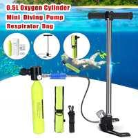 Diving Equipment Mini Scuba Oxygen Cylinder Air Tank Snorkeling Valve Mouthpiece High pressure Pump Underwater Breathing Part