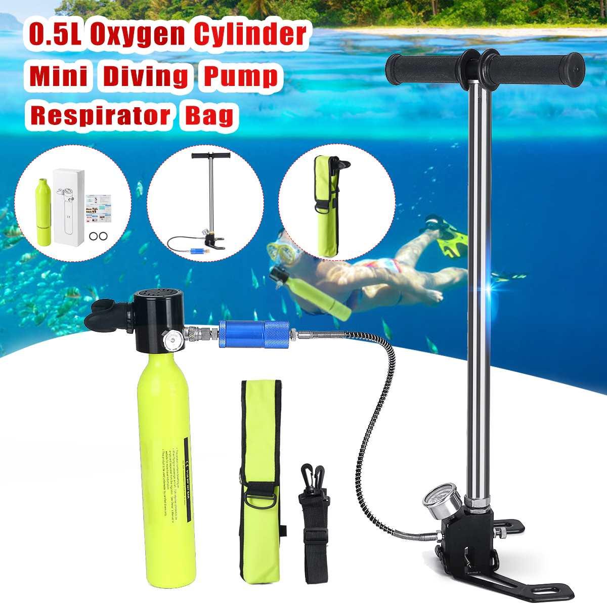 Equipement de plongée Mini bouteille d'oxygène bouteille d'air réservoir de plongée en apnée embout buccal pompe haute pression partie respiratoire sous-marine