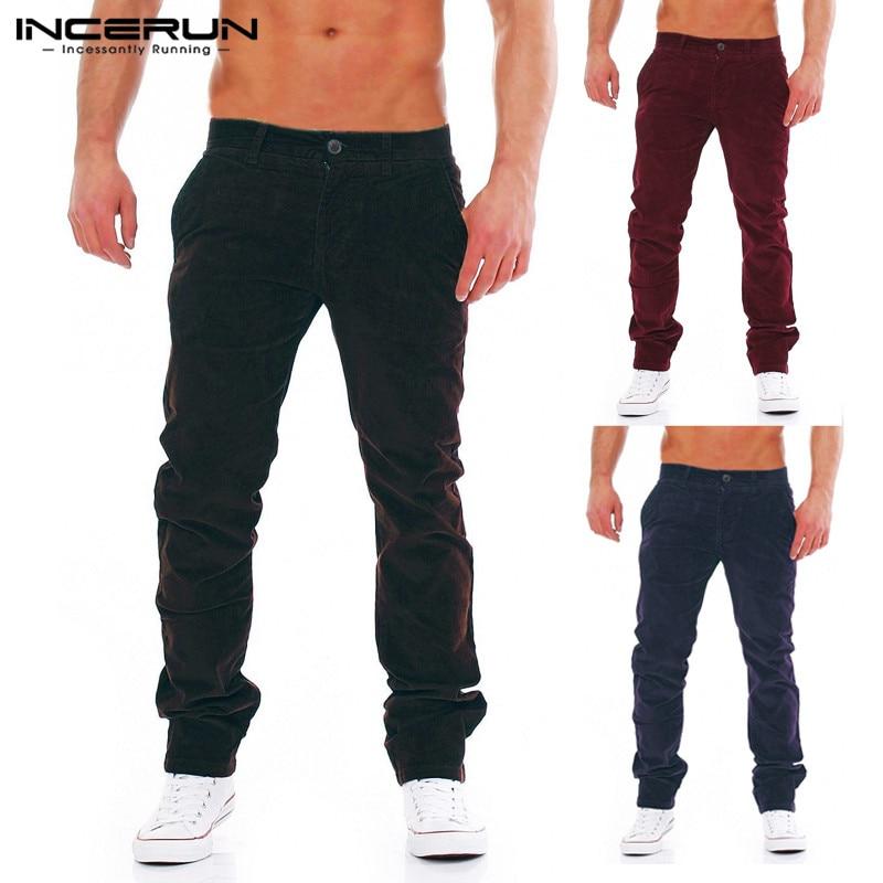 Winter Mens Corduroy Pants Sweatpant Cargo Pants Loose Fitness Tracksuits Harem Chinos Trousers Pantalon Hombre Fashion INCERUN