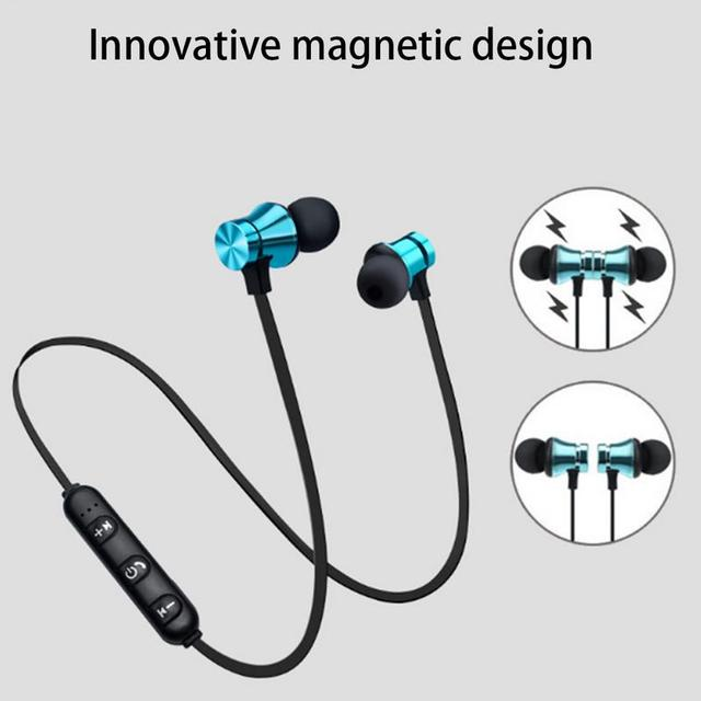 Magnetic attraction Bluetooth Earphone Headset waterproof sports 4.2 with Charging Cable Young Earphone Build-in Mic headphone