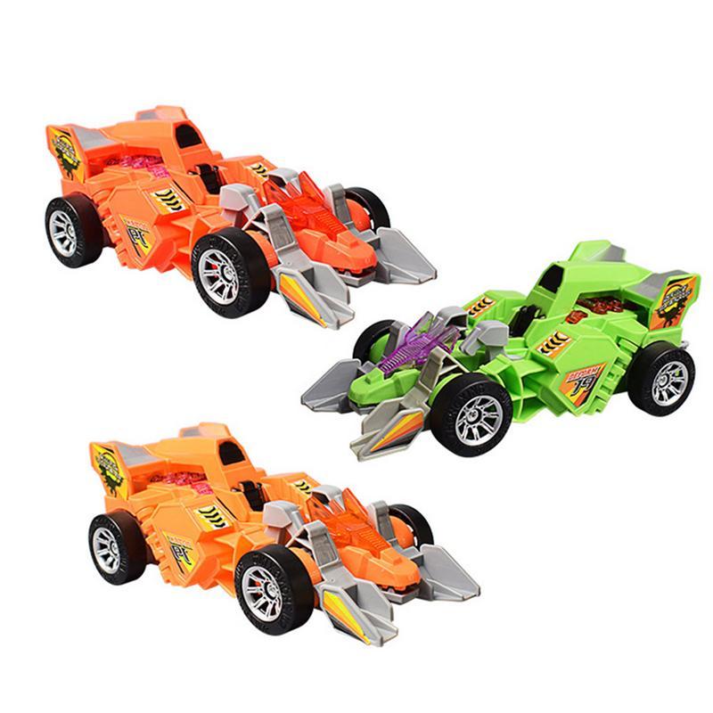 Romantisch Vervorming Dinosaurus Wagen Elektrische Lichte Muziek Voertuig Universele Kinderen Speelgoed Auto Sterke Verpakking