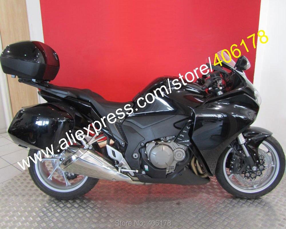 Offres Spéciales, sport Pour Honda VFR1200 2010 2011 2012 2013 VFR 1200 10-13 All Black ABS Moto Carénages ensemble (moulage par Injection)