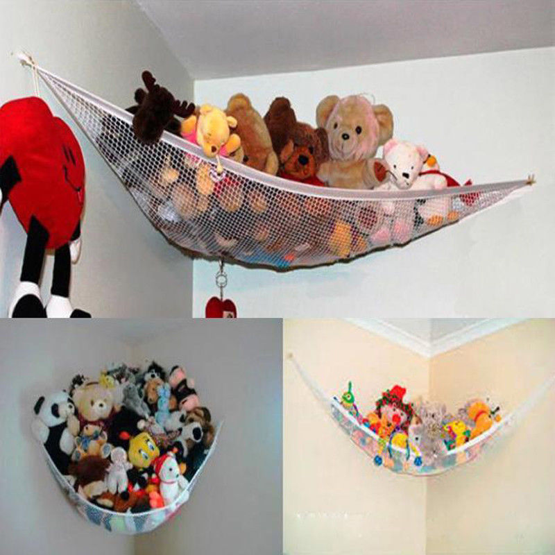 Kids Toy Soft Teddy Storage Hammock Mesh Baby Bedroom Tidy Nursery  Net
