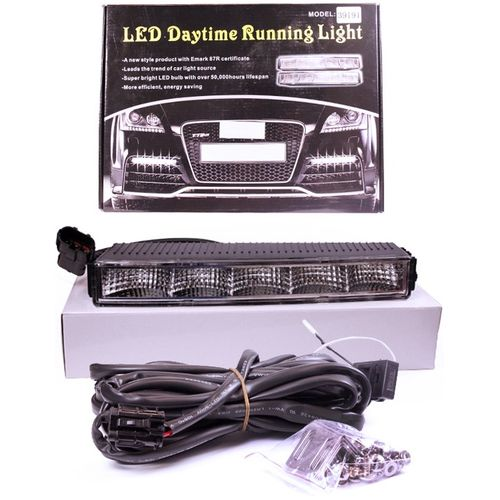Lights DRL daytime running light 1 W (SMD) 5 white SD, (2 pcs) (22x3x7 cm) 39191 for ford 2013 2014 year kuga escape led strip drl daytime running light