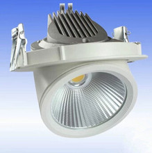 Adjustable COB LED Gimbal Embedded led trunk lamp 30W White sehll Newest Round COB Led Downlamp shop light CE ROHS Certificate