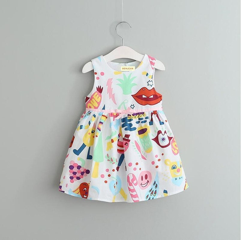baby dress pring girls flowers dress floral print candy baby frock kids dresses for girl clothing children costume boutiques
