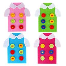 Children DIY Handmade Clothes Toy Creative Kids Threading Sewing Buttons Assembly Cartoon Puzzles Child Learning Educational Toy(China)