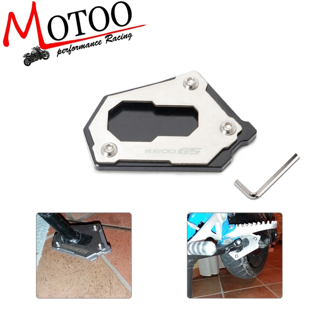Motocicleta Kickstand Descanso Lateral Ampliar Extensão Para BMW R 1200 GS LC R1200GS R1250GS R 1200GS ADV Aventura 2014- 2018