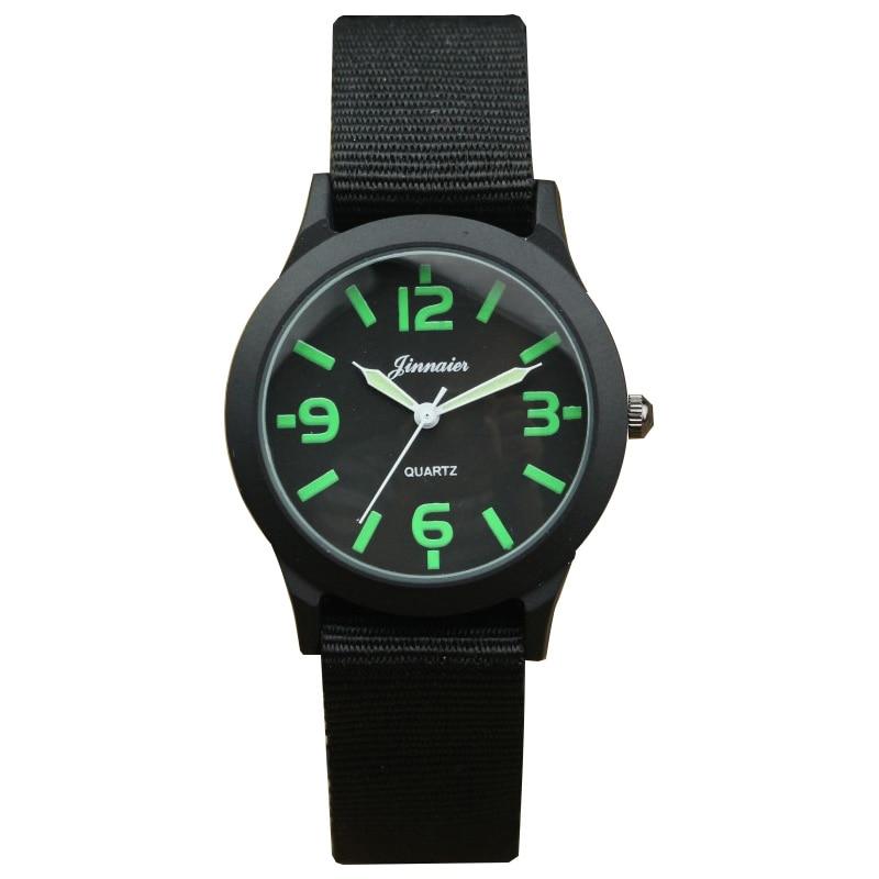 Nazeyt Promotion Kids Multi-color Outdoor Sports Army Wristwatch Boys And Girls Luminous Hands Nylon Quartz Watch Children Watch