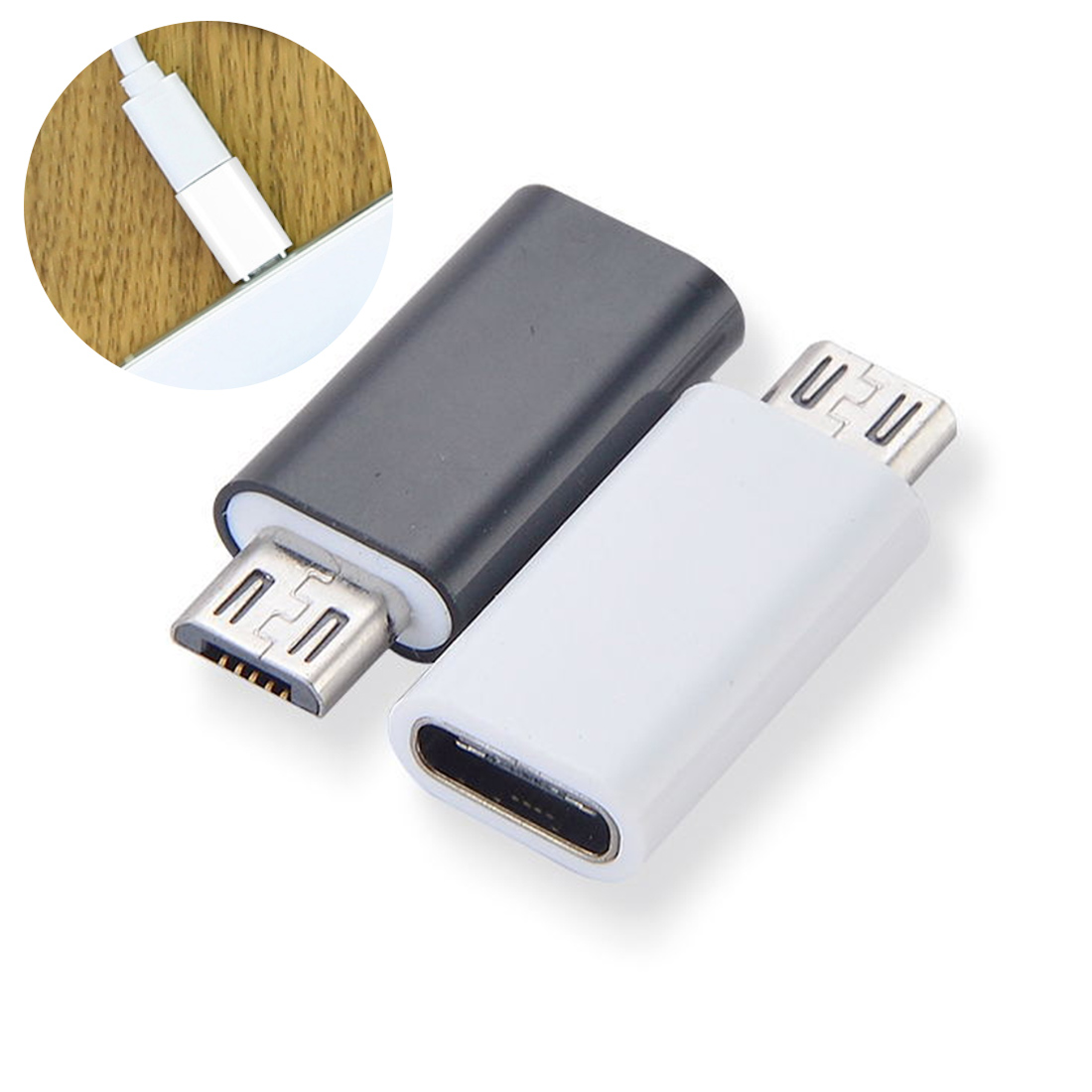Mini Universal Type-C Female To Micro USB 2.0 Male USB 3.1 Converter Data Adapter For Phone Tablet PC