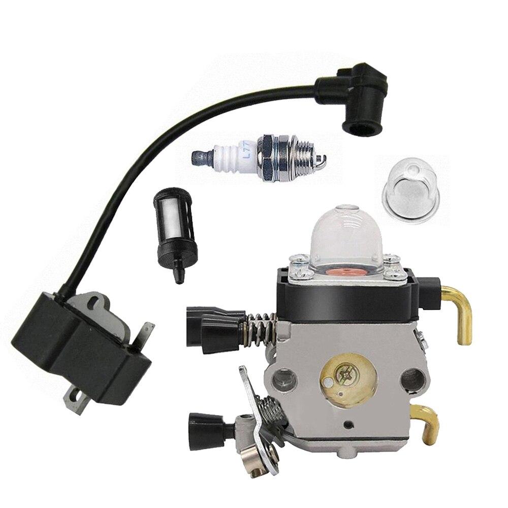 Carburetor Spark Plug Ignition Coil Kit For STIHL FS75 FS80 FS85 FC85 HT70 HS75 Carburetor With Screw Generator Carburetor Spark Plug Ignition Coil Kit For STIHL FS75 FS80 FS85 FC85 HT70 HS75 Carburetor With Screw Generator