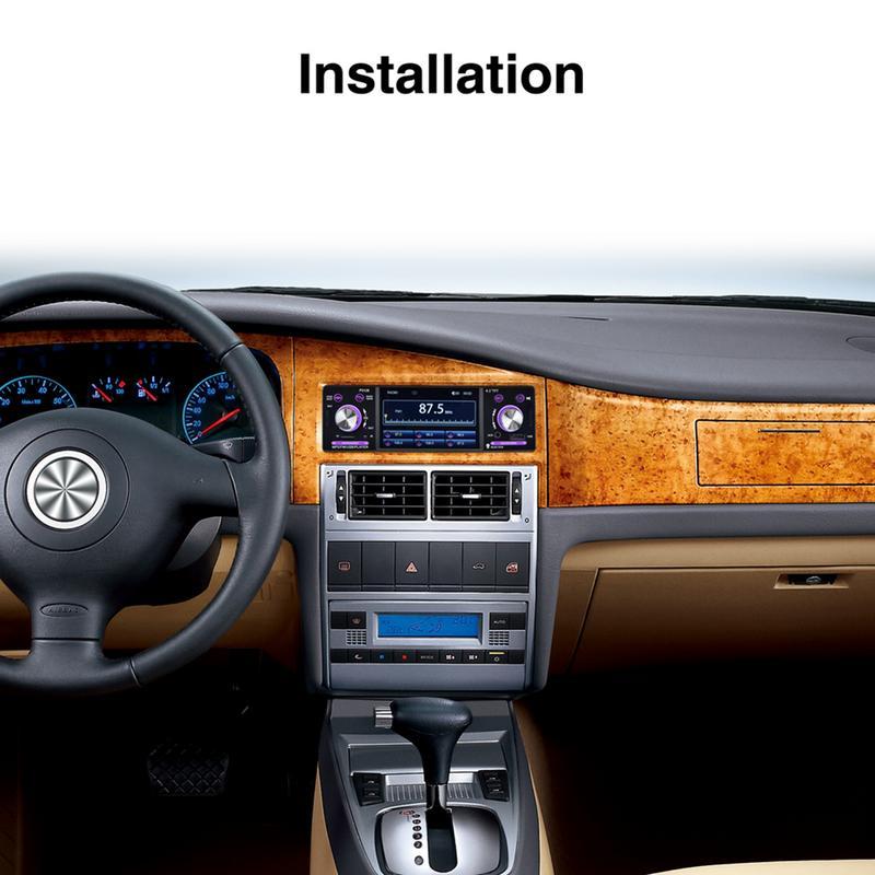 4.1 pouces voiture LCD HD écran numérique 1080 P rétro-éclairé coloré caméra de sauvegarde ISO Port priorité Bluetooth MP5 lecteur vue de recul