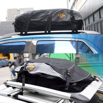130x100x45cm Car Roof Top Bag Roof Top Bag Rack Cargo Carrier Luggage Storage Travel Waterproof SUV Van for Cars image