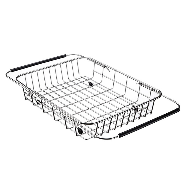 e40fec74998d Hot Dish Rack Over Sink Adjustable Arms Holder Utensil Drainer Functional Drying  Organizer for Vegetable and Fruit Kitchen or